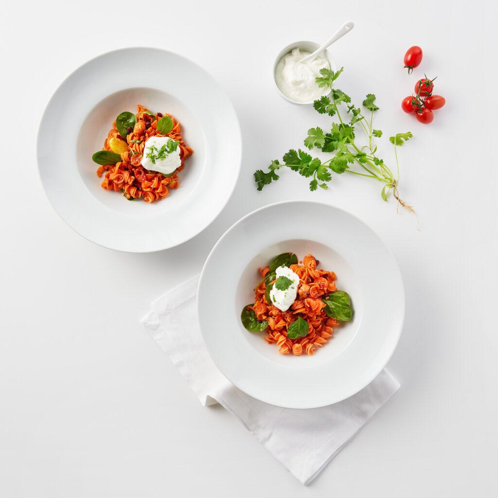 Rote Linsen-Pasta #88 auf marokkanische Art