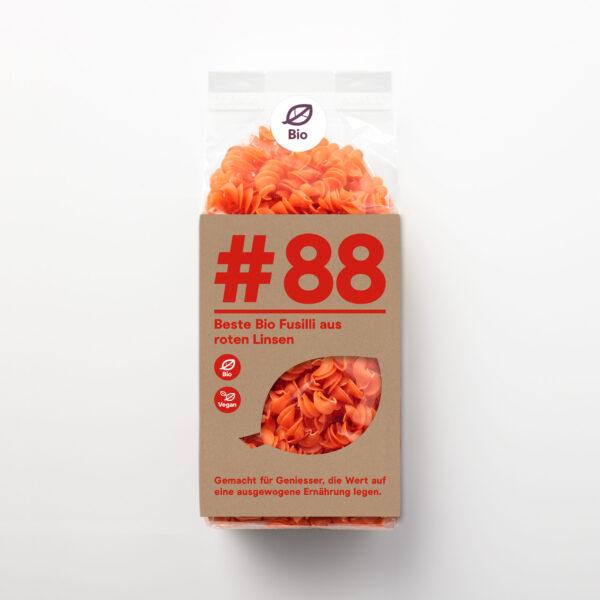 #88 Bio Fusilli aus roten Linsen
