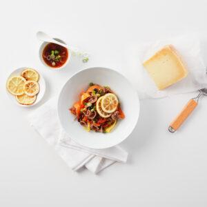 Sorprese #75 mit süssen Karotten und karamellisierten Zitronenchips
